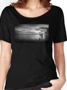 Sandgate Pier in Monochrome Women's Relaxed Fit T-Shirt
