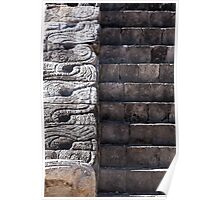 Tulum Temple Stairs Poster