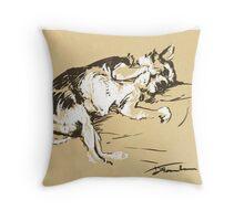 Dan the Dog Throw Pillow