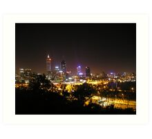 Perth skyline Art Print