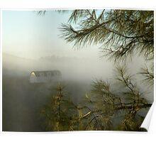 Mountainous Fog Poster