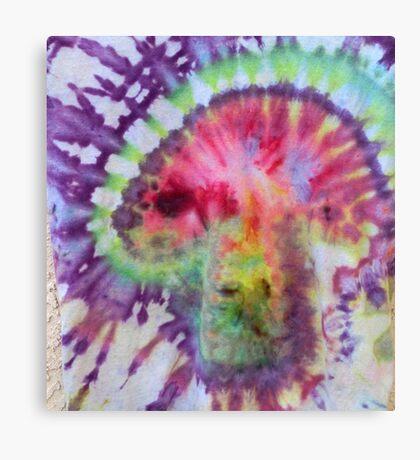 Psychedelic Mushroom tie dye Canvas Print