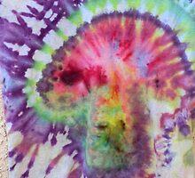 Psychedelic Mushroom tie dye by 710visuals