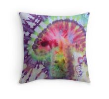 Psychedelic Mushroom tie dye Throw Pillow