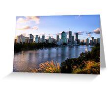Brisbane City & River Greeting Card