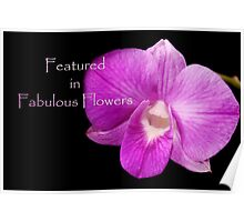 banner for Fabulous Flowers Poster