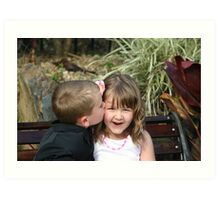 page boy and flower girl 2 Art Print