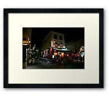 Night Streetscape Framed Print