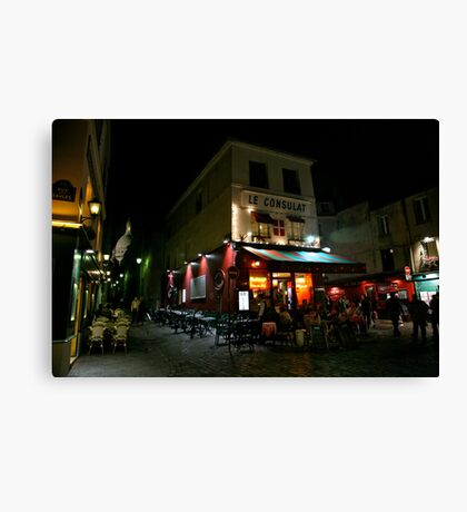 Night Streetscape Canvas Print
