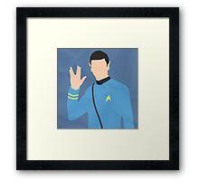 Spock (Simplistic) Framed Print