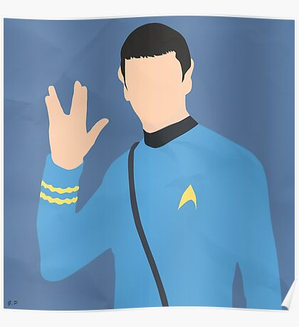 Spock (Simplistic) Poster