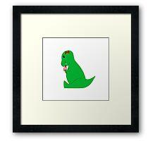 T-Rex Ice Cream Cone Framed Print
