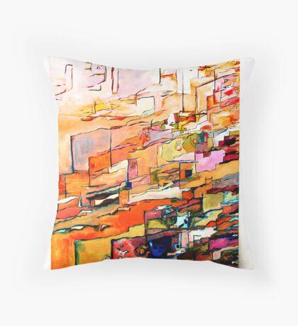 Orange Red Throw Pillow