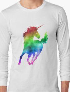 Rainbow Galaxy Unicorn Long Sleeve T-Shirt