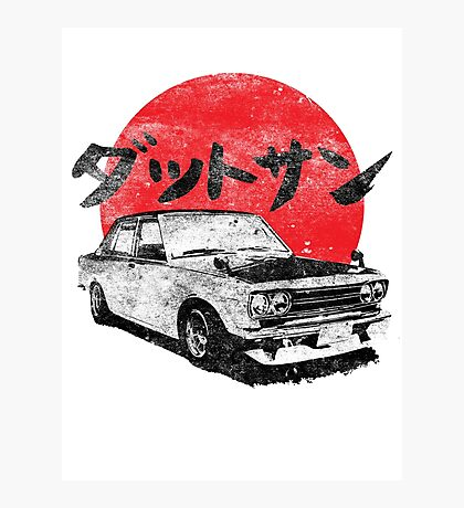 Datsun 510 Japanese Photographic Print