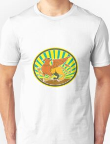 Griiffin Marching Side Oval Cartoon T-Shirt