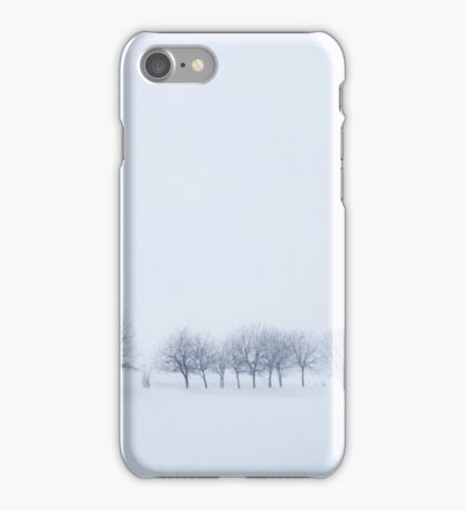 Snowstorm Trees iPhone Case/Skin