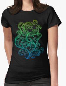 Rainbow Swirls  Womens Fitted T-Shirt