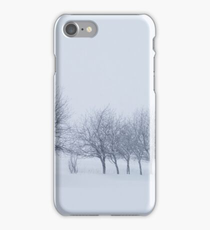 Trees in Snowstorm iPhone Case/Skin