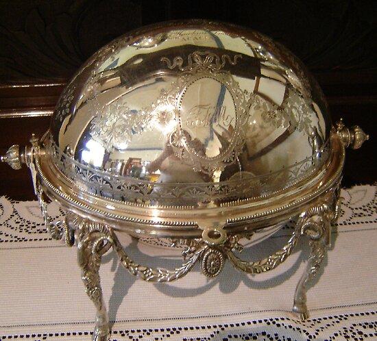 Silver Dish Reflection by KazM