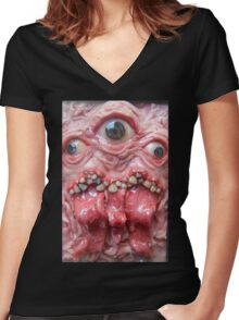 DogzillaLives triclops  Women's Fitted V-Neck T-Shirt