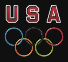 USA Olympic Rings One Piece - Long Sleeve