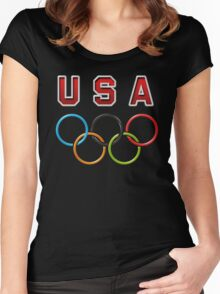 USA Olympic Rings Women's Fitted Scoop T-Shirt