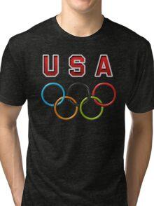 USA Olympic Rings Tri-blend T-Shirt