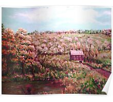 Tenant House in Autumn Poster