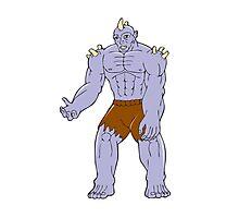 Goblin Monster Horn Cartoon Photographic Print