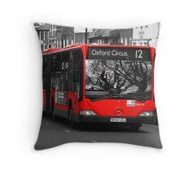 Bendy Bus London Throw Pillow