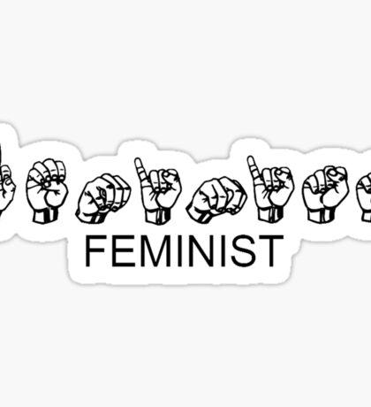 FEMINIST - Sign Language Sticker