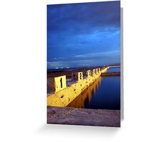 Starting Blocks, Newcastle Ocean Baths Greeting Card