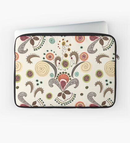 Wired Flower Pattern Laptop Sleeve