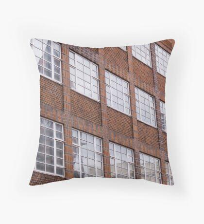 Building facade in Brighton Throw Pillow