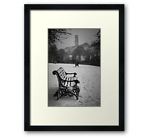 Alone in the snow Framed Print