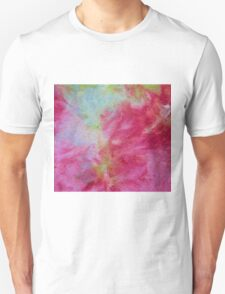 Pink and turquoise ice dye wash T-Shirt