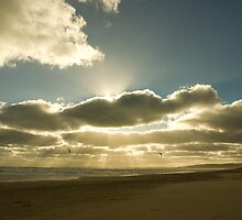 Sunrays over Goolwa Beach by Matt Harvey