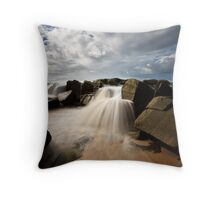 Seaside Waterfalls Throw Pillow