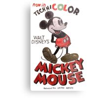 Mickey Mouse Metal Print