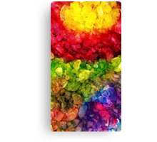 Rainbow dye ice fade Canvas Print