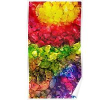 Rainbow dye ice fade Poster
