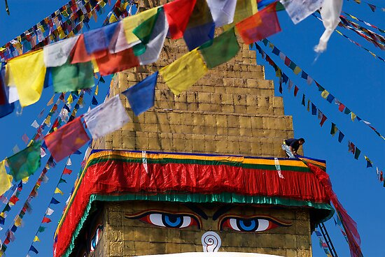 Eyes of Boudhanath by Suze Chalmers