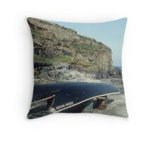 Currachs, Causeway, Co. Kerry, Ireland. Throw Pillow