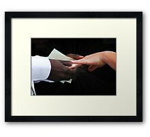With this Ring Framed Print