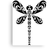 Tribal Dragonfly Tattoo Canvas Print
