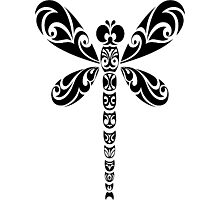 Tribal Dragonfly Tattoo Photographic Print