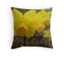 Daffodils on the Hill Throw Pillow