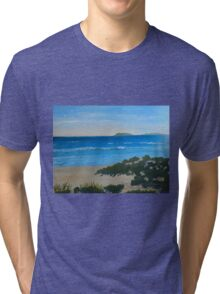Beach on the North Coast NSW Australia Tri-blend T-Shirt
