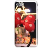 Minnie Mouse Ears on Mainstreet iPhone Case/Skin